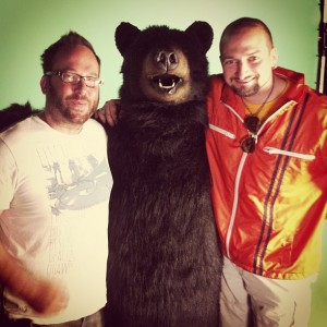 I'm in the bear costume.