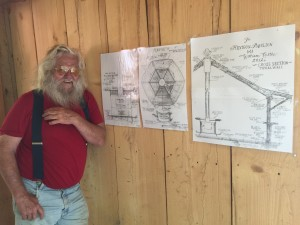 The famous Bill Castle showing off his latest construction at Pollywoggholler.