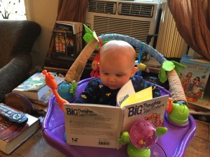 Kallen learning to read.